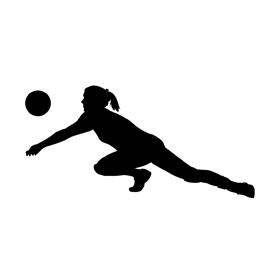 270x270 Volleyball Passer Silhouette Stencil Free Stencil Gallery