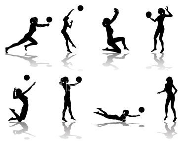 380x285 Volleyball Player Hitting Silhouette Clipart Panda