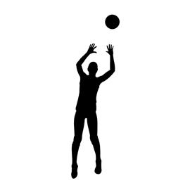 270x270 Volleyball Setter Silhouette Stencil Free Stencil Gallery