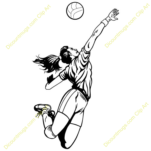 500x500 Volleyball Hitter Clipart