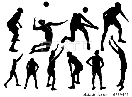 450x333 Volleyball Players Fine Vector Silhouettes