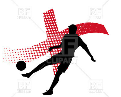 400x320 Silhouette Of Soccer Player Against Stylized Flag Of England