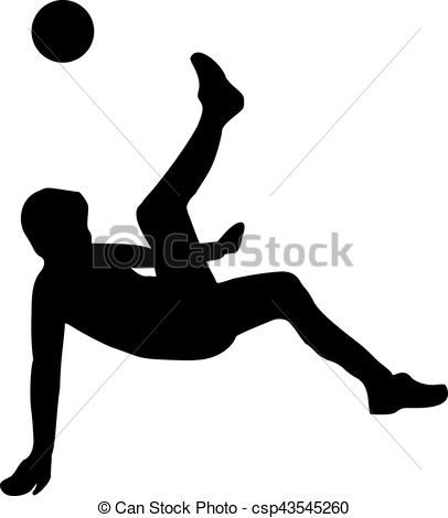 406x470 Soccer Player Bicycle Kick Clip Art Vector