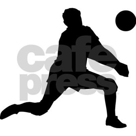 460x460 Volleyball Player Silhouette Digging
