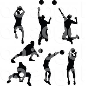 300x300 Volleyball Silhouette Free Download Clip Art Fine Player Clipart