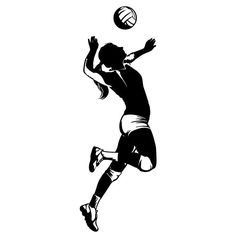 236x236 Volleyball Silhouette Graphics Silhouette Clip Art