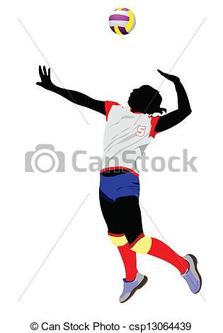 315x470 Women Volleyball Silhouette. Vector Illustration Vectors