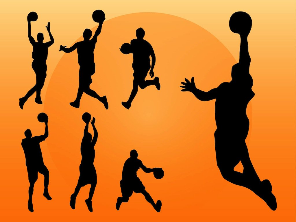 1024x768 Basketball Players Silhouettes Vector Art Amp Graphics