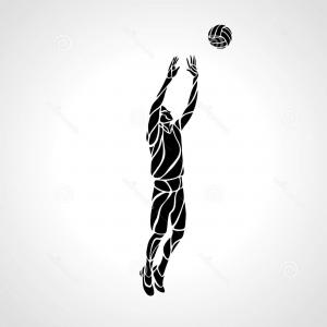 300x300 Stock Illustration Volleyball Setter Silhouette Vector
