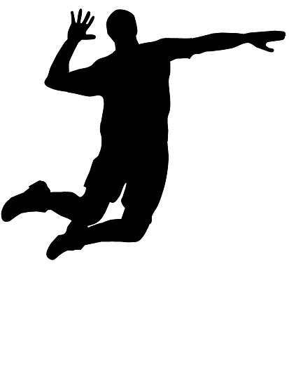 413x550 Volleyball Player Silhouette Setter
