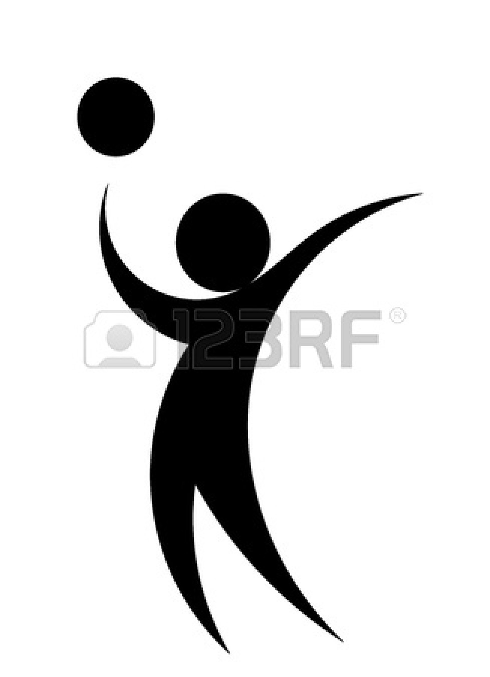 978x1350 Volleyball Player Spike Silhouette Clipart Panda