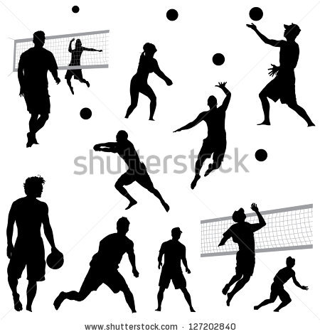 450x470 Volleyball Setter Clipart