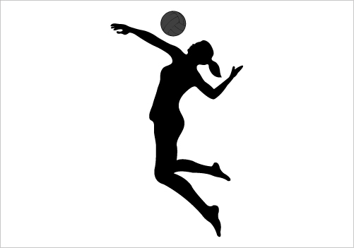 501x351 Volleyball Silhouette