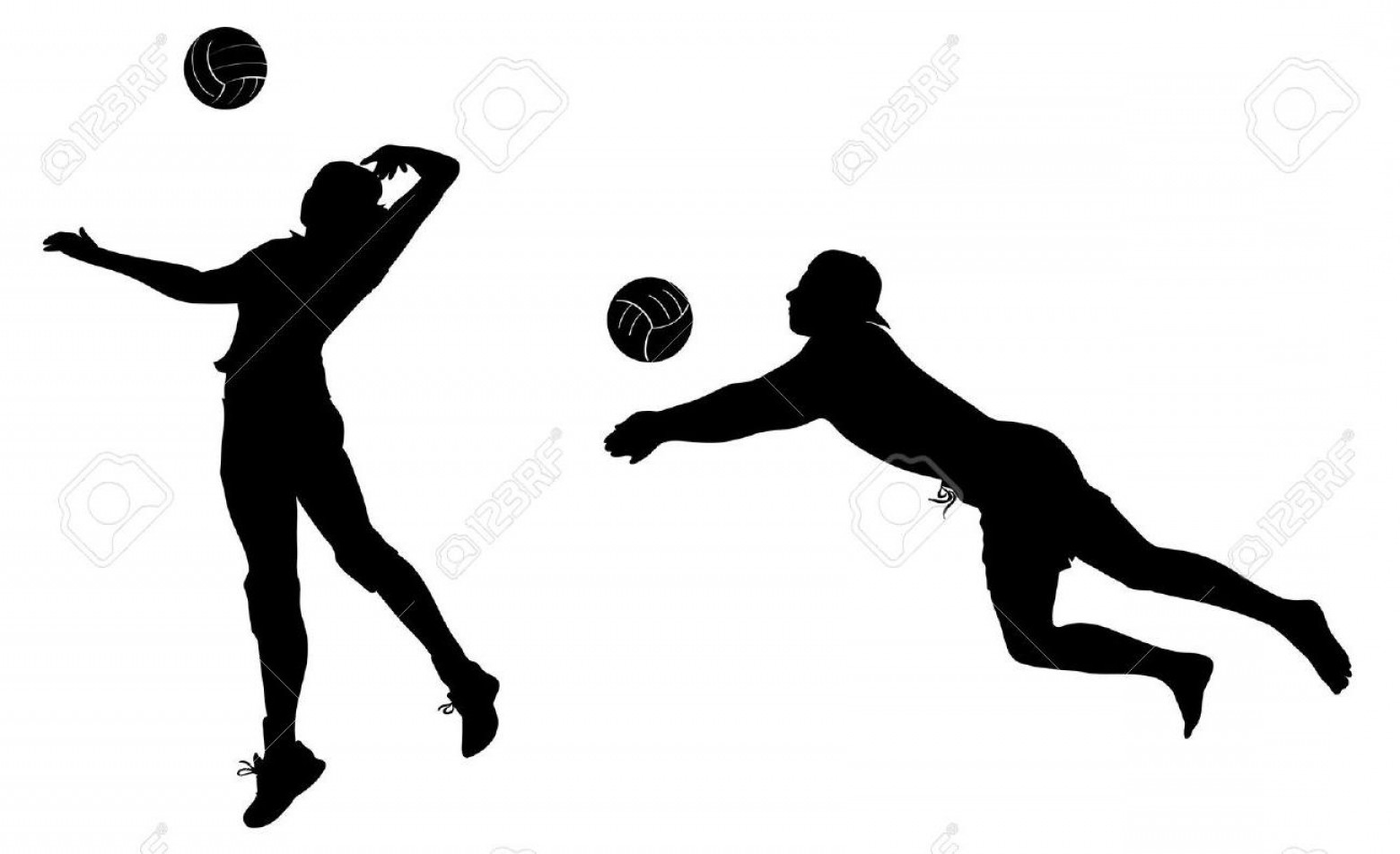 1560x952 Volleyball Silhouette Free Download Clip Art Fine Player Clipart