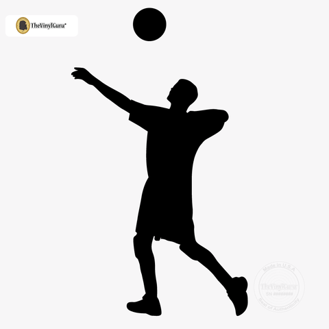 480x480 Volleyball Wall Sticker Decal