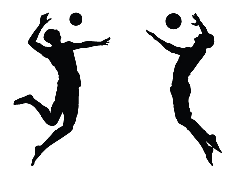 volleyball setter silhouette at getdrawings com free for personal rh getdrawings com volleyball free vector art volleyball player vector free download