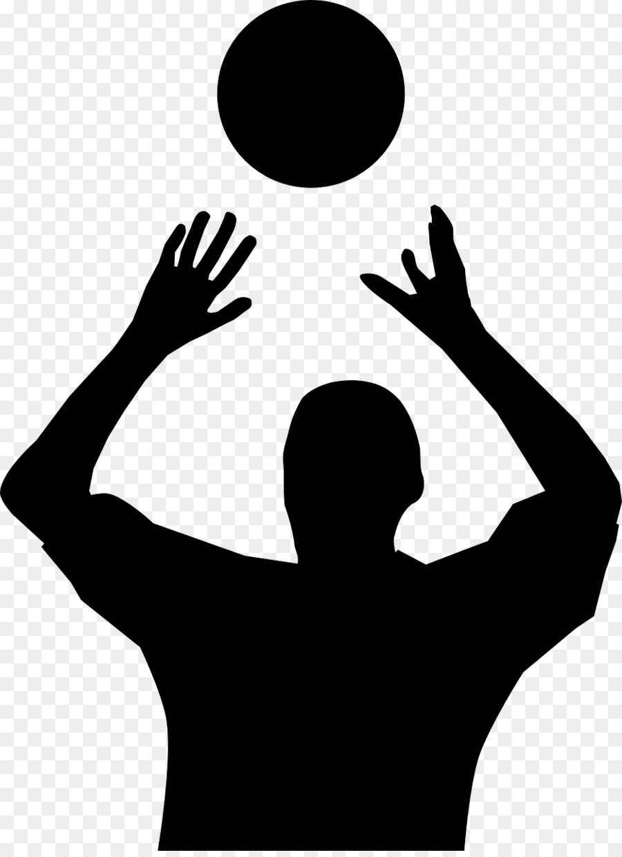 Volleyball Silhouette Clip Art