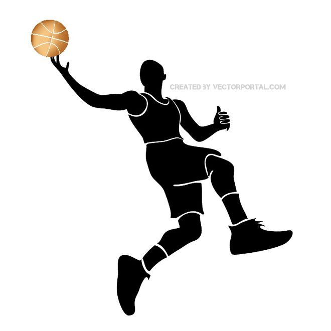 660x660 Basketball Player Silhouette Free Vector Silhouettes