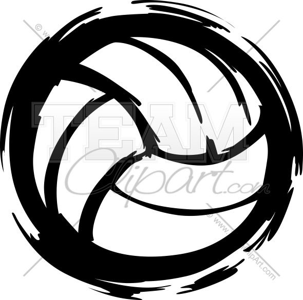 590x585 Volleyball Clipart Image. Easy To Edit Vector Format. Silhouette