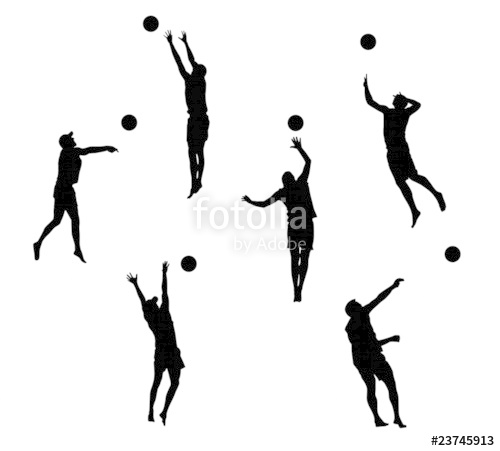 500x451 Beach Volleyball (Silhouettes)