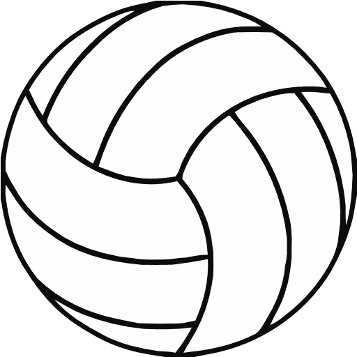 512x512 Volleyball Vector Free Download