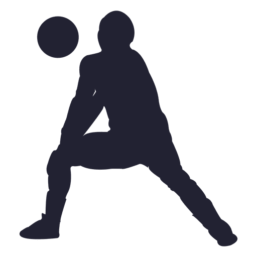 512x512 Volleyball Player Silhouette