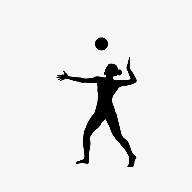 650x650 Woman Playing Volleyball,sketch, Sports, Sketch, Silhouette
