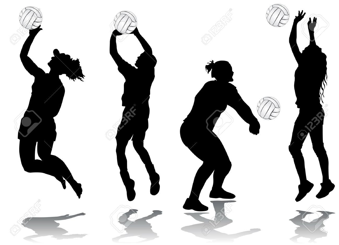1300x941 Best Free Volleyball Players Black Icons Clip Art Stock Vector