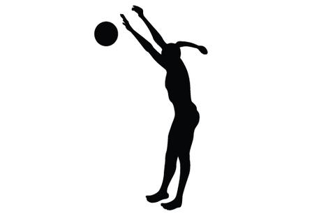 480x309 Womens Beach Volleyball Silhouette Vector Silhouettes Vector