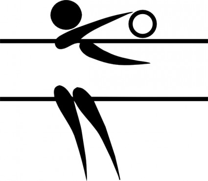 425x371 Free Volleyball Player Silhouette Clipart Image