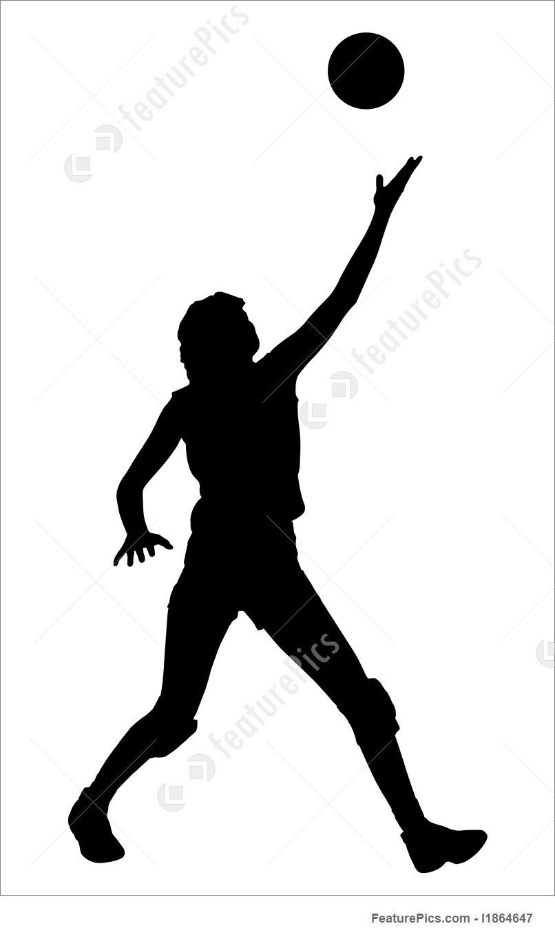 806x1360 Silhouettes Of Four Men Playing Beach Volleyball Royalty Free