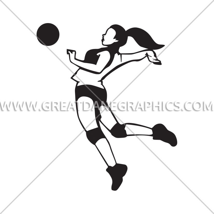 825x825 Volleyball Jump Spike Production Ready Artwork For T Shirt Printing