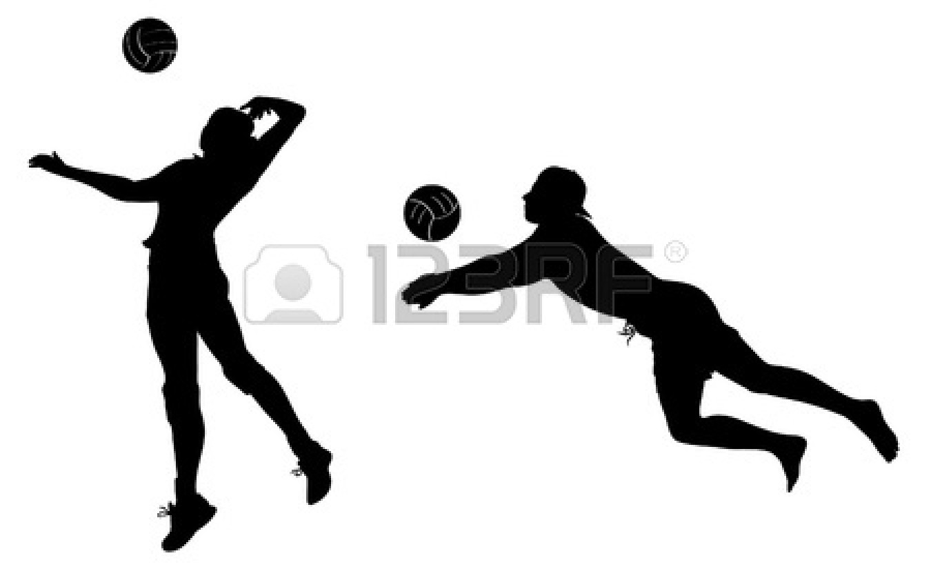 1350x825 Volleyball Player Silhouette Clipart