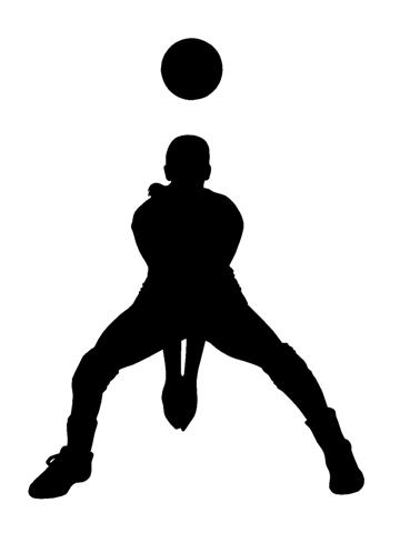 369x480 Volleyball Silhouette