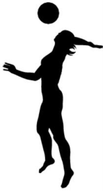 210x386 Volleyball Silhouette Graphics Silhouette Clip Art