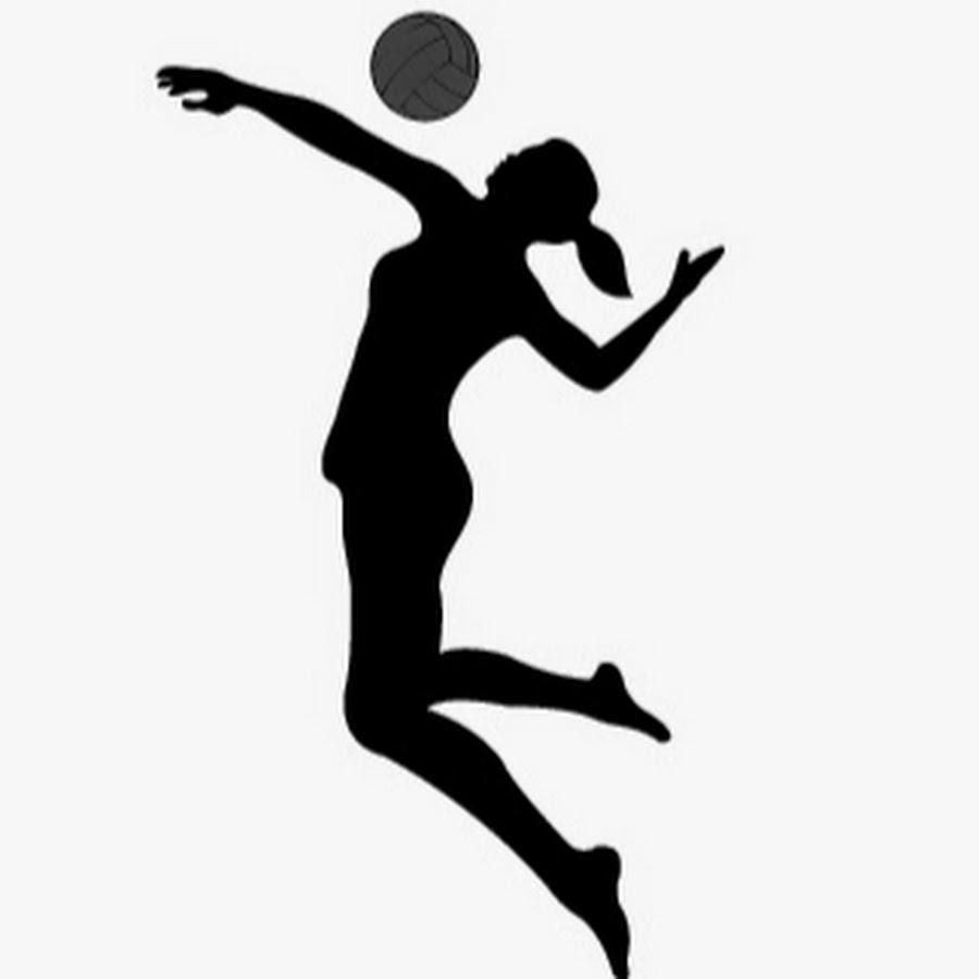 900x900 Volleyball Spike Silhouette