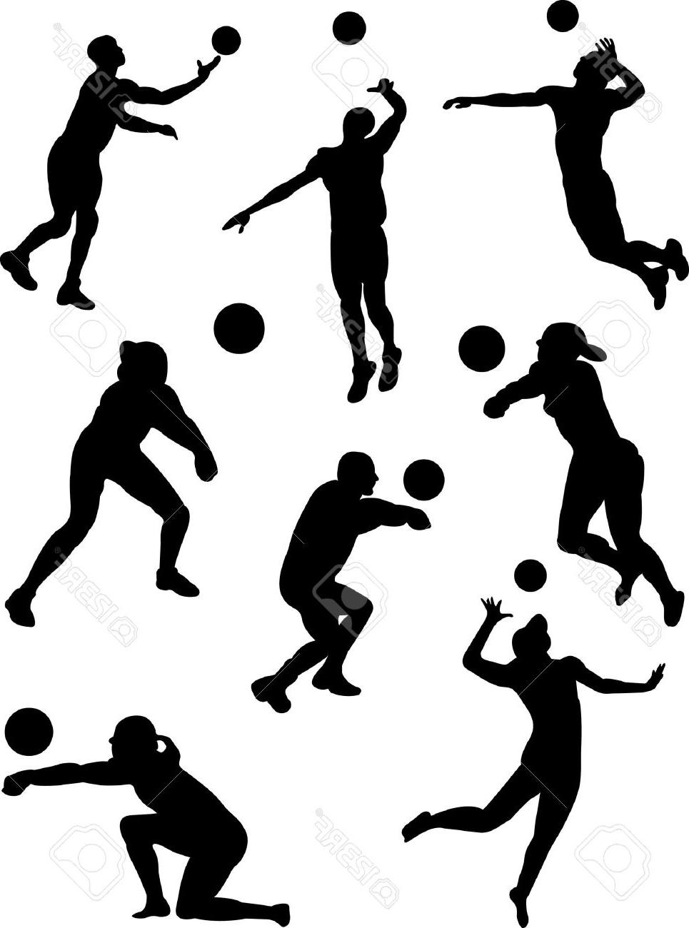 965x1300 Best Hd Volleyball Serve Silhouette Clipart File Free