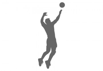 360x250 Volleyball Wall Decals