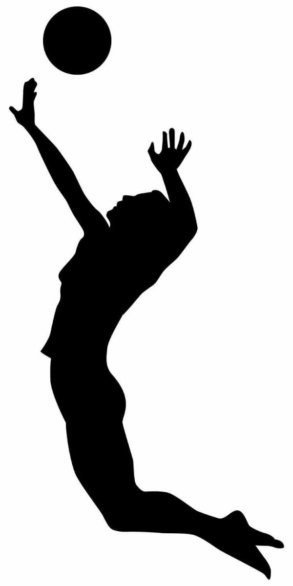 600x1200 Volleyball Jump Serve Clipart Collection