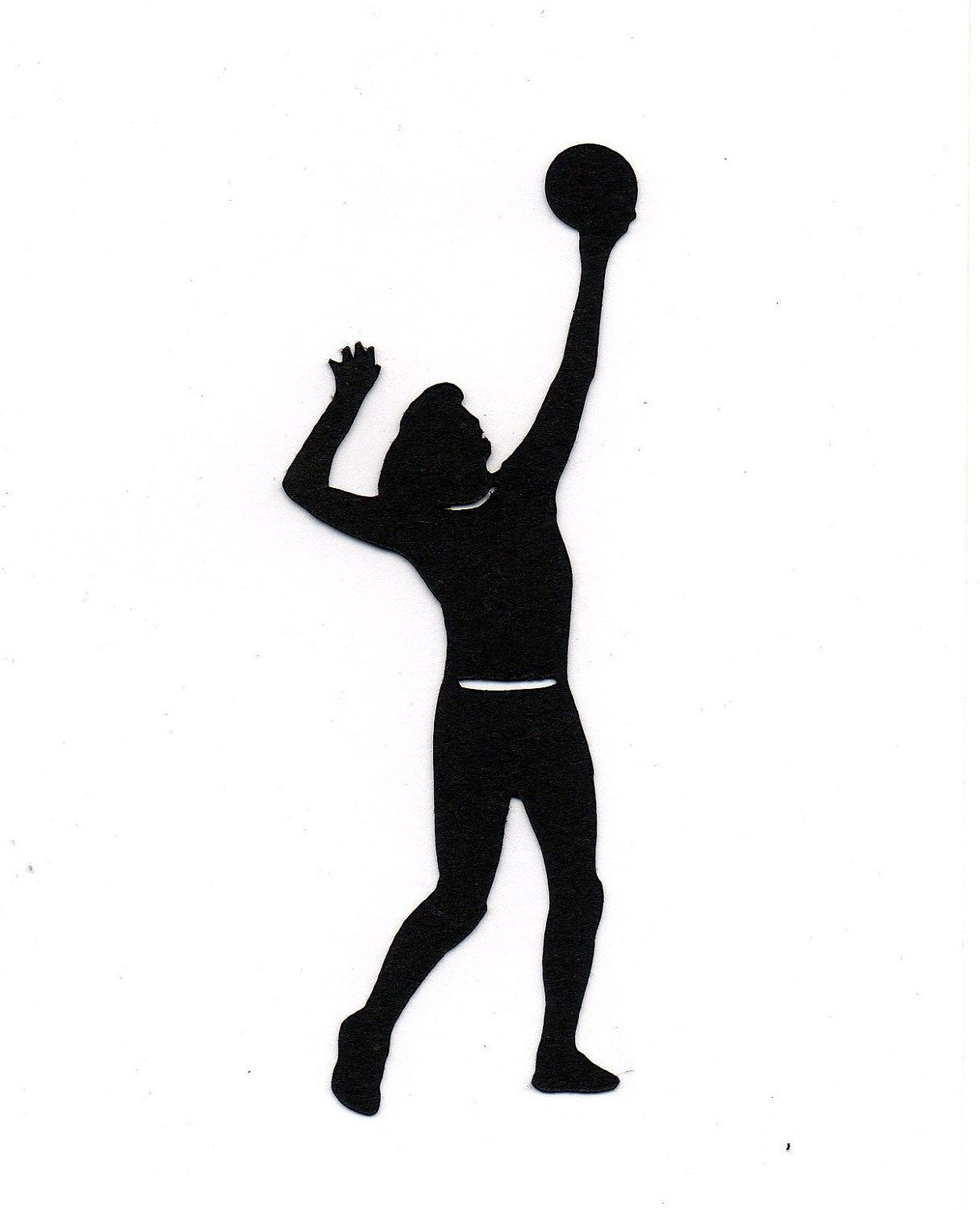 1215x1500 Female Volleyball Player Stylized Silhouette Vector Image