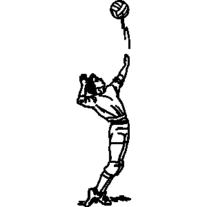 300x300 Free Volleyball Spike Clipart Image
