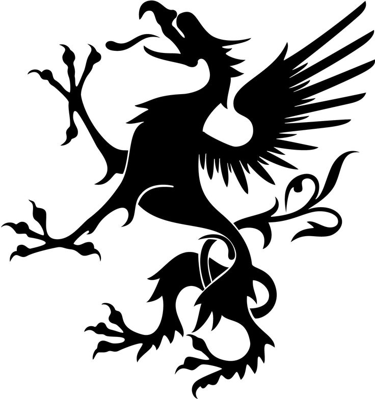 736x784 Clipart Black And White Heraldic Silhouette Vulture Icon