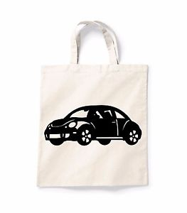 263x300 Vw Beetle Silhouette Canvas Tote Shopping Bag Cotton Printed