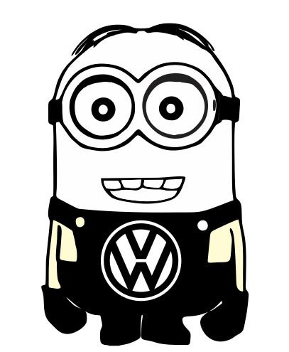 407x495 Minion Vw Volkswagen Despicable Me Vinyl Car By Customsticker