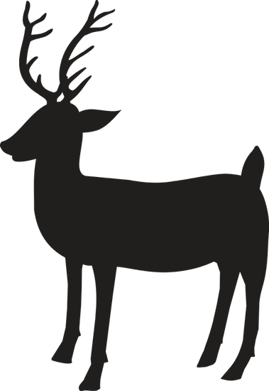 379x550 Silhouette Of Reindeer Icon