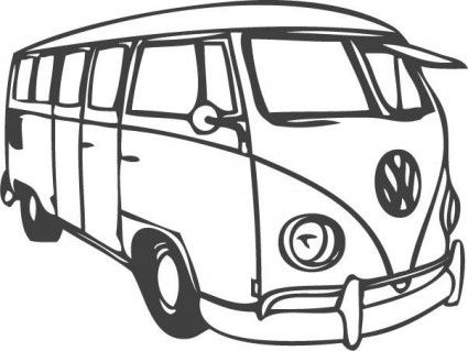425x319 Vw Bus Vector Misc