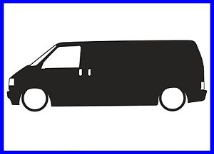 300x217 Vw T4 Transporter Silhouette Decal Sticker Ebay