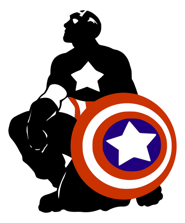 600x725 Captain America Silhouette By Viscid2007