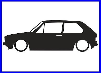 400x289 Mk1 Vw Golf Silhouette Decal Sticker