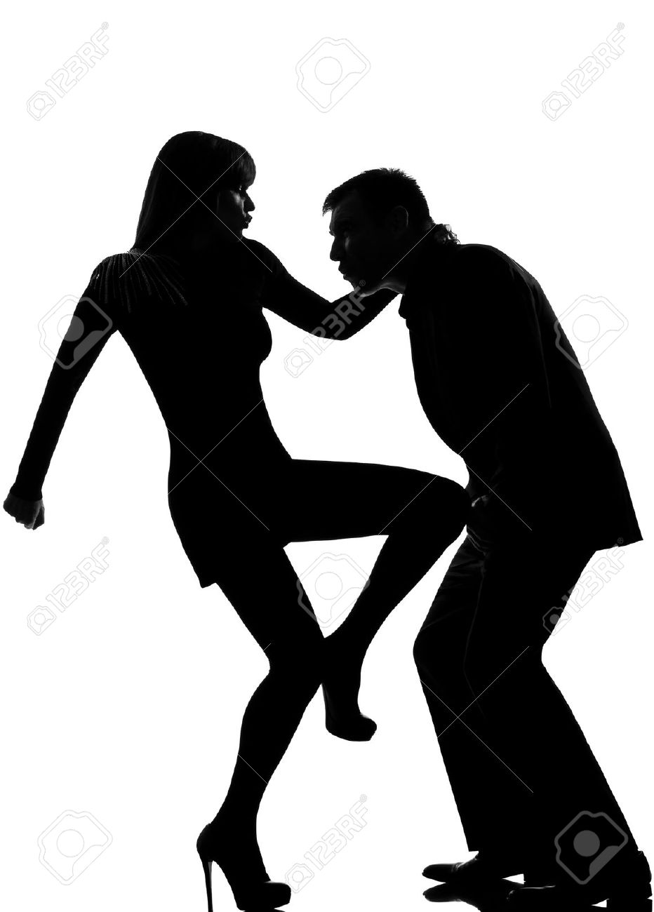 932x1300 11605348 One Caucasian Couple Man And Woman Self Defense Domestic